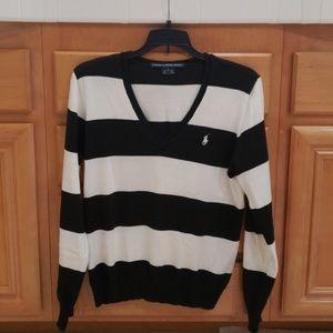 Ralph Lauren Sport Vneck Cotton Sweater